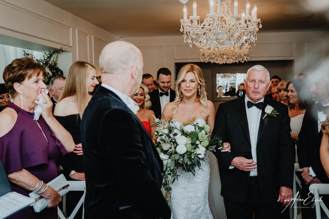 Wedding Ceremony at The Old Vicarage Boutique Wedding Venue