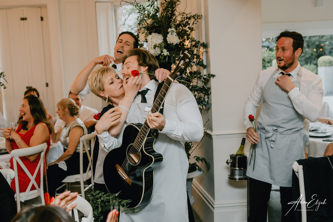 Singing waiters at The Old Vicarage Boutique Wedding Venue