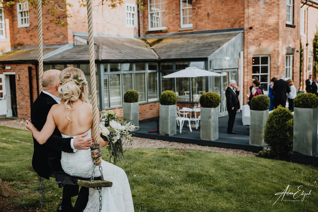 Rope swing at The Old Vicarage Boutique Wedding Venue