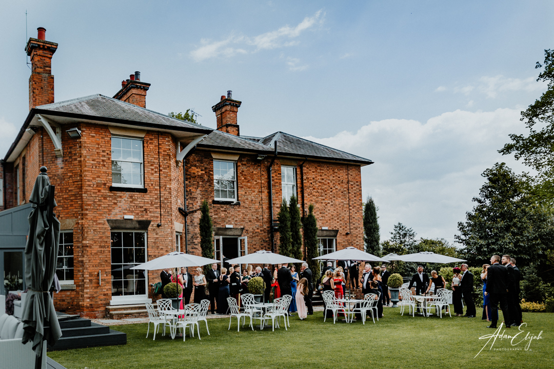 Guests at The Old Vicarage Boutique Wedding Venue