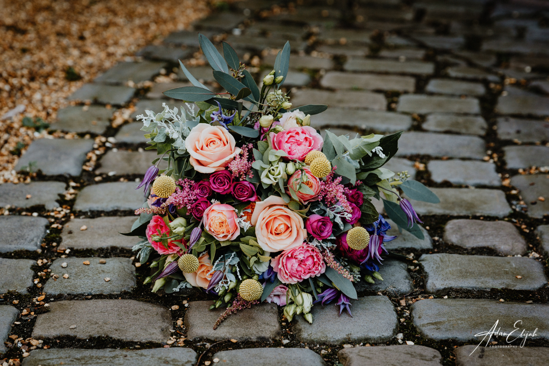 Wedding Bouquet on path